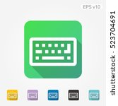 colored icon of keyboard symbol ... | Shutterstock .eps vector #523704691
