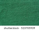 Green Knitted Texture Background