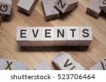 event word written in wooden... | Shutterstock . vector #523706464