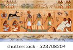 Ancient Egypt Scene  Mythology. ...