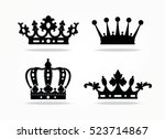 Crown Isolated On White...