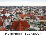 aerial view over the roofs of... | Shutterstock . vector #523720039