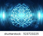 abstract electric circuit... | Shutterstock .eps vector #523723225