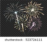 isolate firework bursting in... | Shutterstock .eps vector #523726111