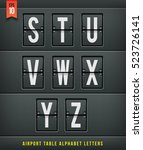 airport arrival table alphabet. ... | Shutterstock .eps vector #523726141