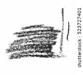 black wax crayon strokes... | Shutterstock .eps vector #523727401