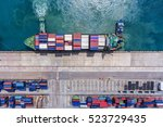 container container ship in... | Shutterstock . vector #523729435