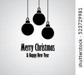 merry christmas and happy new... | Shutterstock .eps vector #523729981