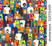 seamless pattern social ... | Shutterstock .eps vector #523731439