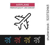 vector airplane icon. premium...   Shutterstock .eps vector #523732465