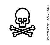 skull and crossbones...