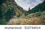hiking italian alps | Shutterstock . vector #523736014