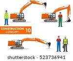 worker concept. detailed... | Shutterstock .eps vector #523736941