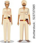 couple of indian police people...