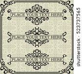 a set of elements for design | Shutterstock .eps vector #523737565
