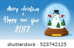 merry christmas and happy new... | Shutterstock .eps vector #523742125