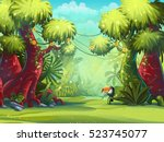 jungle vector illustration... | Shutterstock .eps vector #523745077