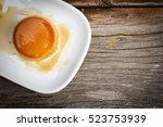 homemade caramel custard cake... | Shutterstock . vector #523753939