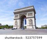paris  france  on july 10  2016.... | Shutterstock . vector #523757599