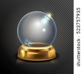 magic crystal ball of glass and ... | Shutterstock .eps vector #523757935