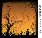 halloween background   Shutterstock .eps vector #52375849