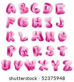 cute glossy pink alphabet   Shutterstock . vector #52375948