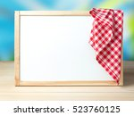 white board in frame with...   Shutterstock . vector #523760125