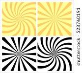 set abstract sunburst  radial... | Shutterstock .eps vector #523760191