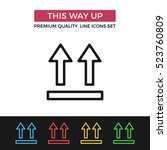 vector this way up icon.... | Shutterstock .eps vector #523760809