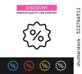 vector discount icon. shopping... | Shutterstock .eps vector #523766911