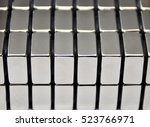 stacked metal plates of... | Shutterstock . vector #523766971