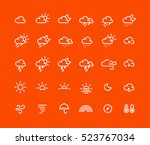 outline weather icons | Shutterstock .eps vector #523767034