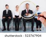 job interview   Shutterstock . vector #523767904