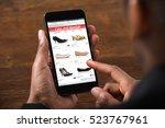 african american shopping online | Shutterstock . vector #523767961