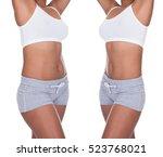 weight loss before after | Shutterstock . vector #523768021