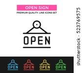 vector open sign icon. premium...