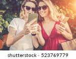 sunny summer day. close up of a ... | Shutterstock . vector #523769779