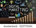 digital marketing seo diagram   Shutterstock . vector #523770181
