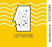 icon of copywriting. vector... | Shutterstock .eps vector #523772089