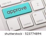 approve word written on... | Shutterstock . vector #523774894