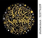 spanish christmas feliz navidad ...   Shutterstock .eps vector #523776109