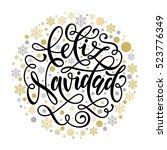 feliz navidad spanish merry...   Shutterstock .eps vector #523776349