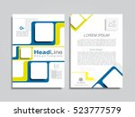 brochure design layout with... | Shutterstock .eps vector #523777579