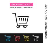 vector shopping cart icon....