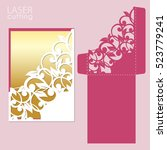 laser or die cut envelope... | Shutterstock .eps vector #523779241