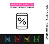 vector smartphone and percent...