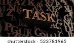 task   wooden 3d rendered...   Shutterstock . vector #523781965