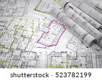 architectural project  | Shutterstock . vector #523782199