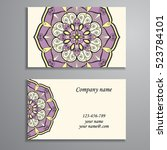 business card. vintage... | Shutterstock .eps vector #523784101
