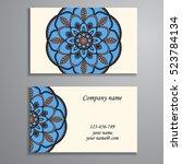 business card. vintage... | Shutterstock .eps vector #523784134